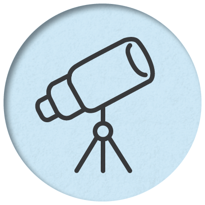 Icon depicting a telescope